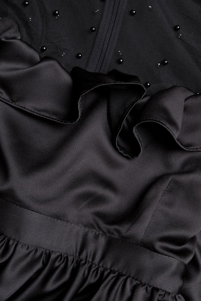 Robe en satin avec des manches amples et applications de perles BADEN 11 image 3