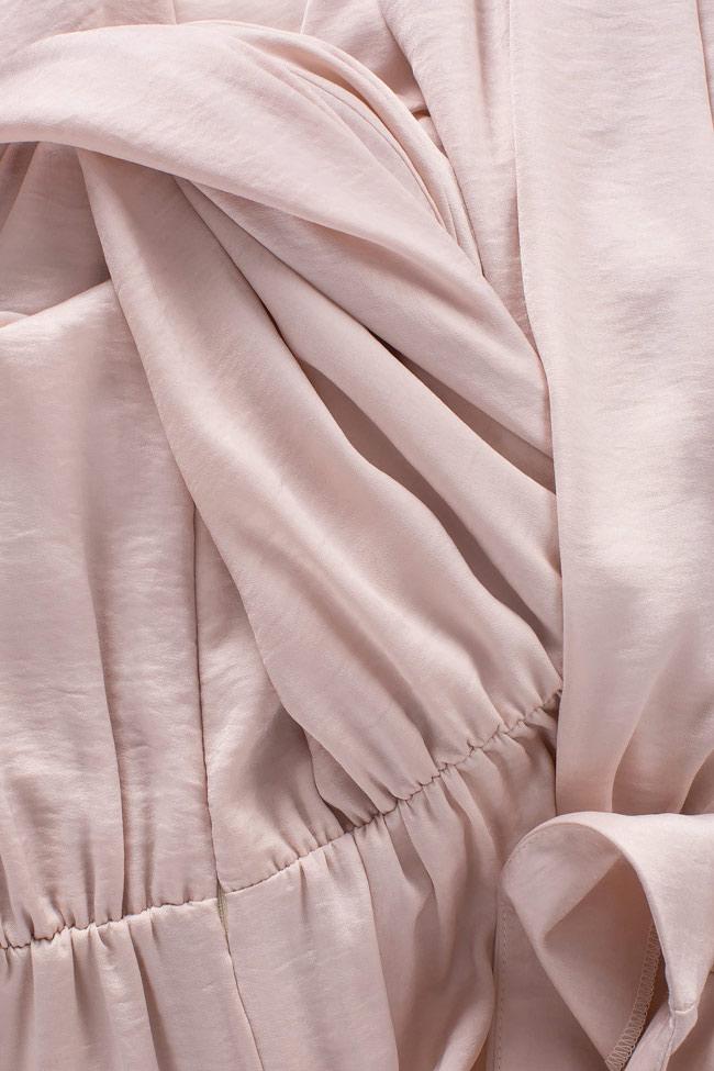 Robe midi en satin froissé et à dos nu Bluzat Cocktail image 4