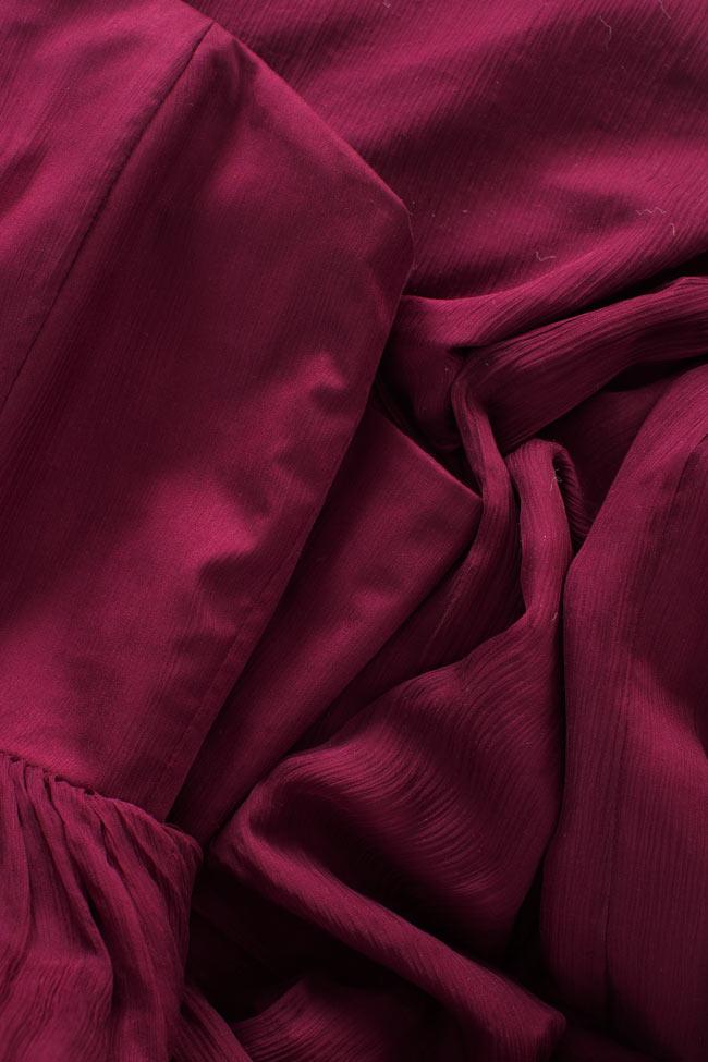 One-shoulder plissé silk-chiffon gown Bluzat Cocktail image 4