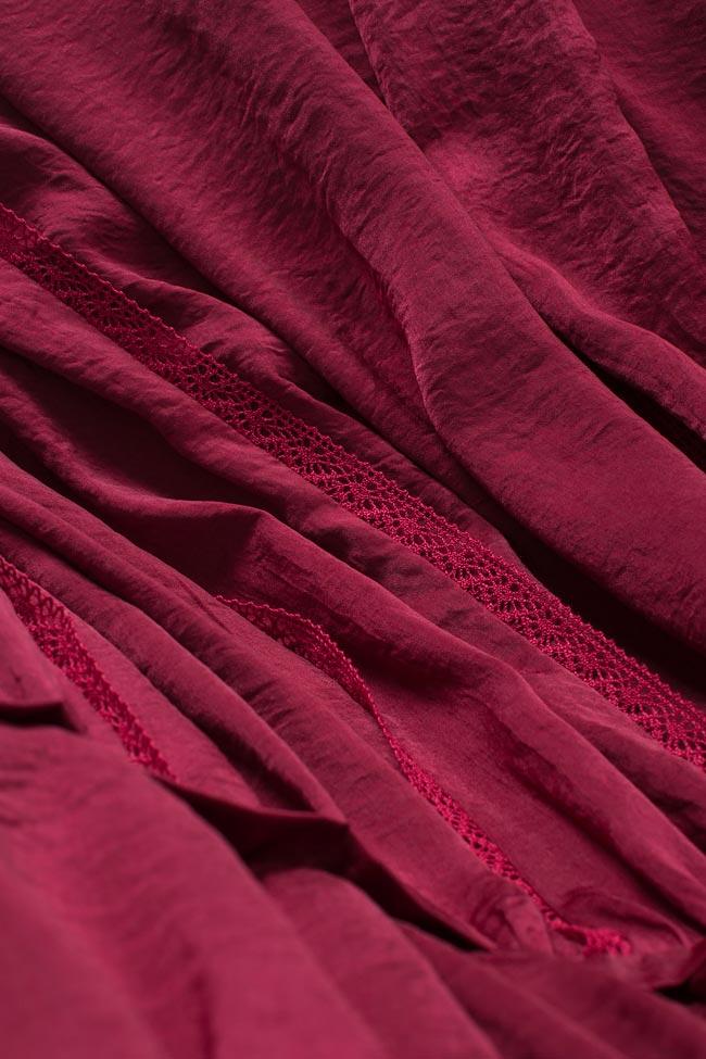 Lace-trimmed satin midi dress BLUZAT image 4