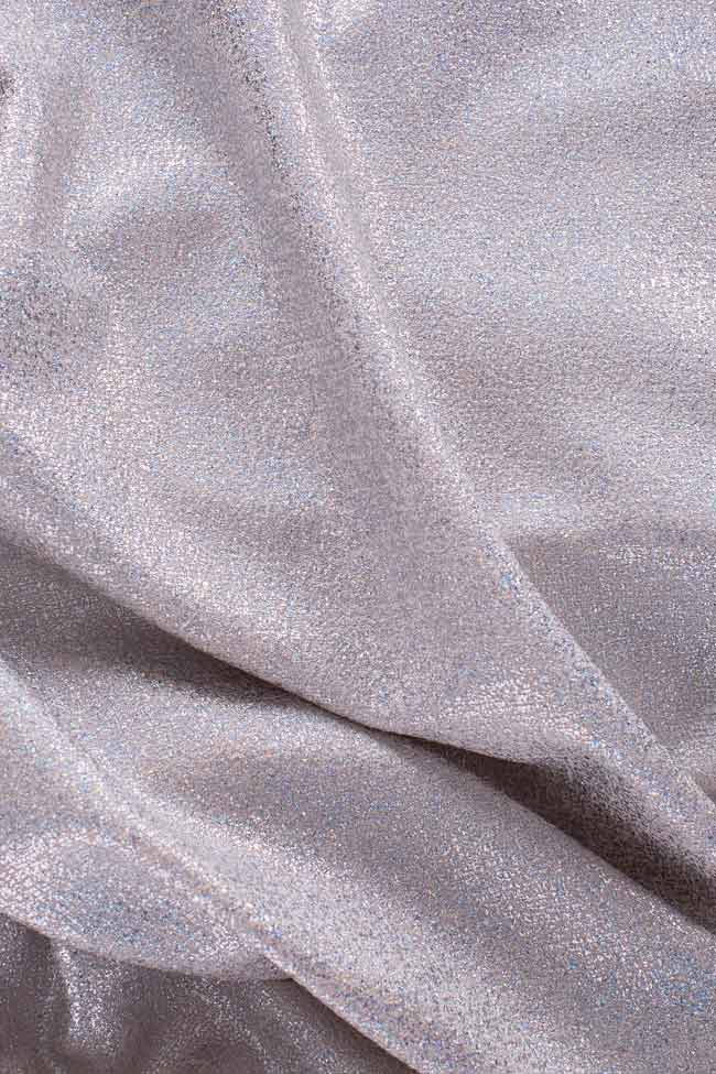Cotton-blend metallic mini dress Bluzat Cocktail image 4