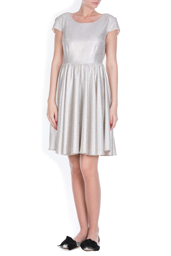 Cotton-blend metallic mini dress Bluzat Cocktail image 0