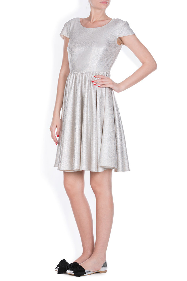 Cotton-blend metallic mini dress Bluzat Cocktail image 1