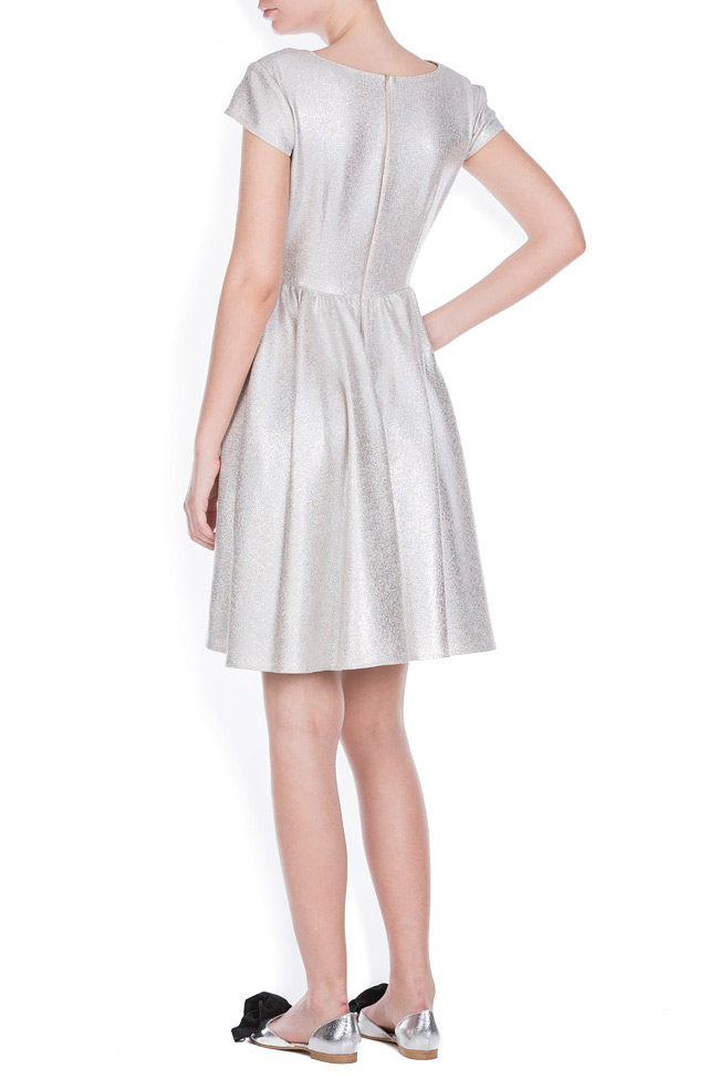 Cotton-blend metallic mini dress Bluzat Cocktail image 2