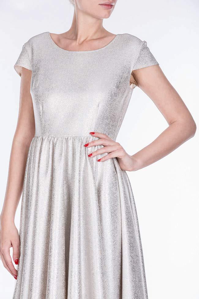 Cotton-blend metallic mini dress Bluzat Cocktail image 3