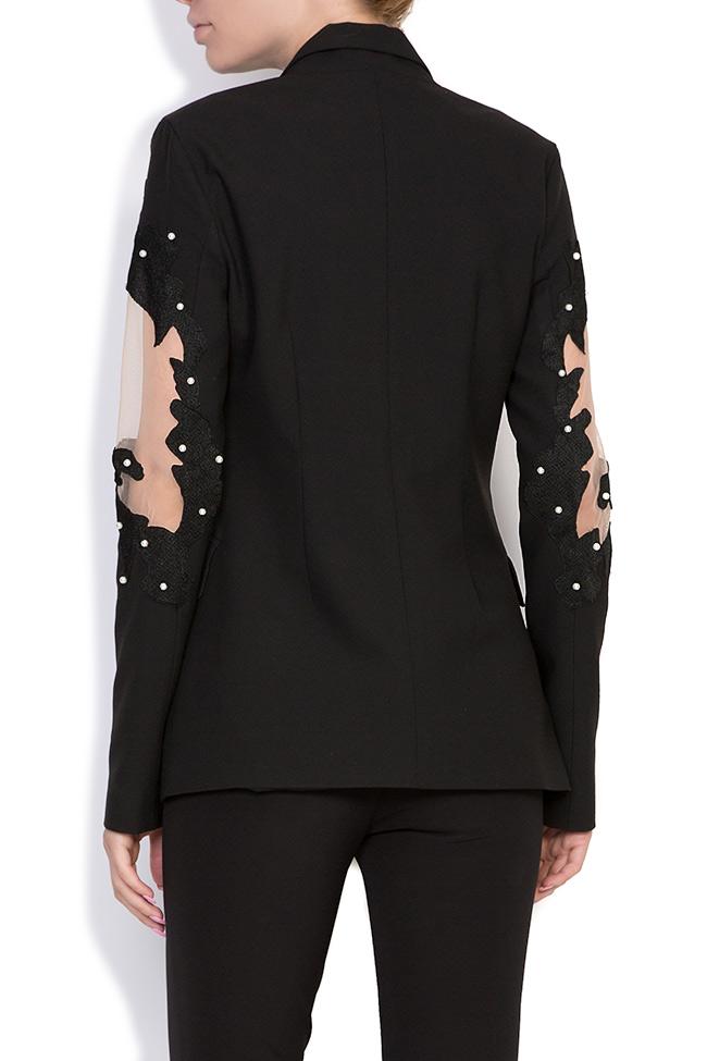 Vogue embellished silk crepe tulle blazer Alina Cernatescu image 2