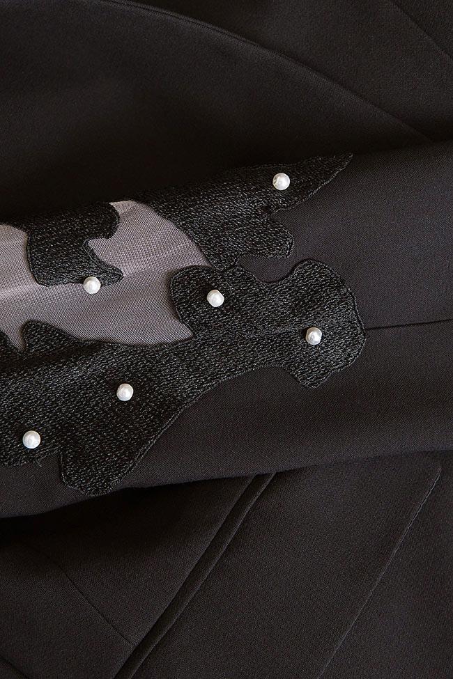Vogue embellished silk crepe tulle blazer Alina Cernatescu image 4