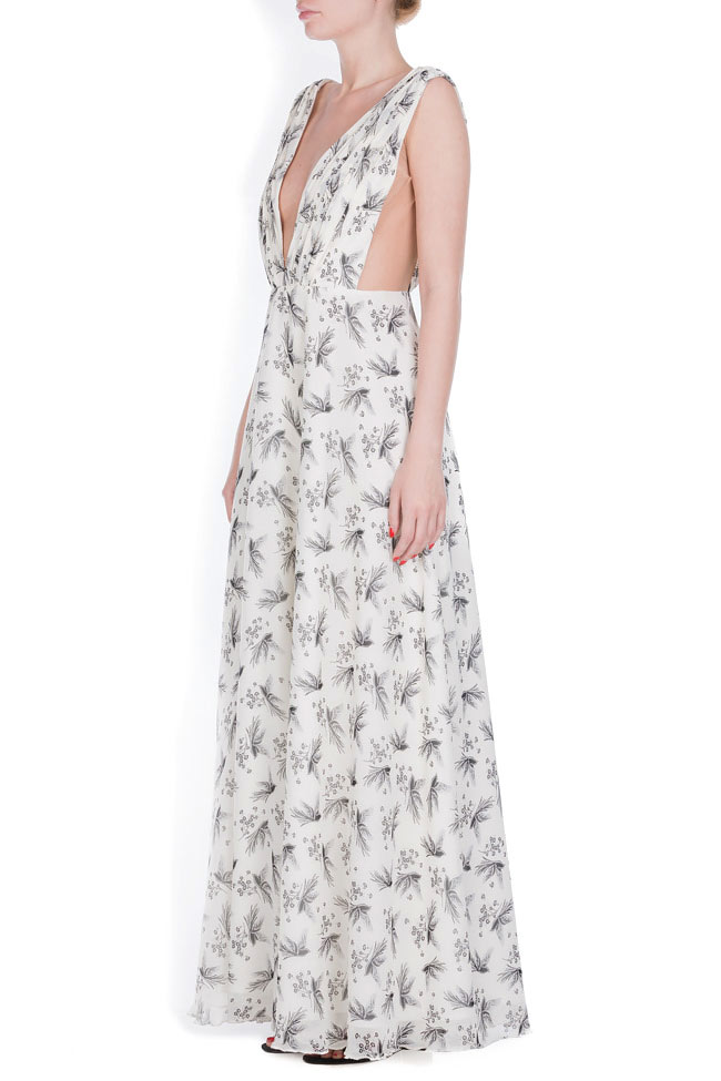 Silk-blend tulle maxi dress Zenon image 1