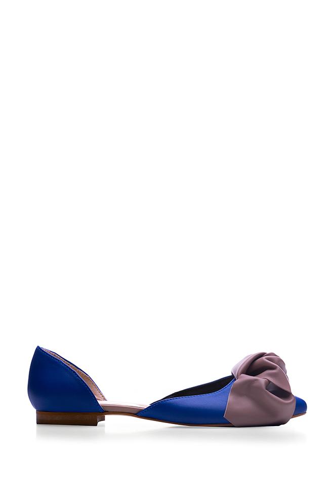 Balerini din piele cu funda  Giuka by Nicolaescu Georgiana  imagine 0