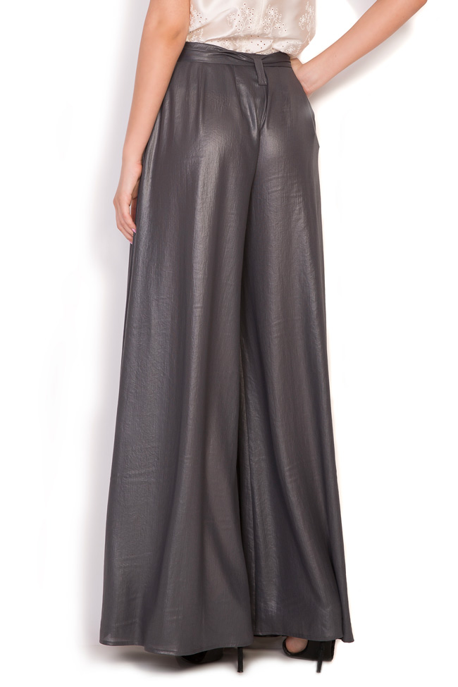 Orin belted metallic wide-leg pants Alexandra Ghiorghie image 2