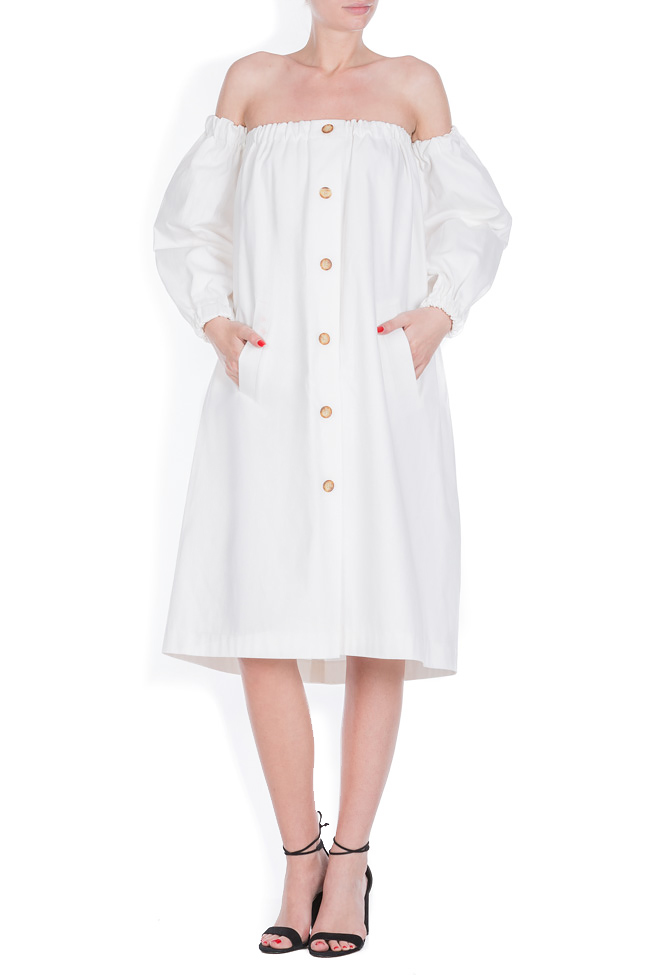 Cotton dress with detachable sleeves Zenon image 0