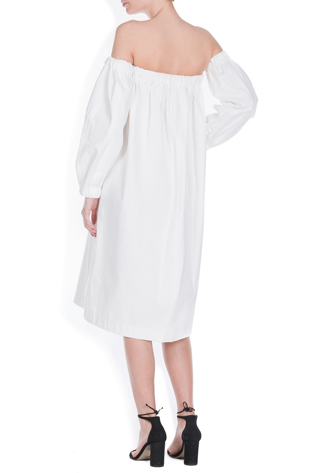 Cotton dress with detachable sleeves Zenon image 2