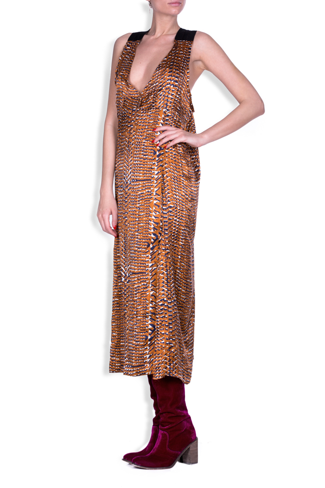 Skin silk-satin printed dress Studio Cabal image 1