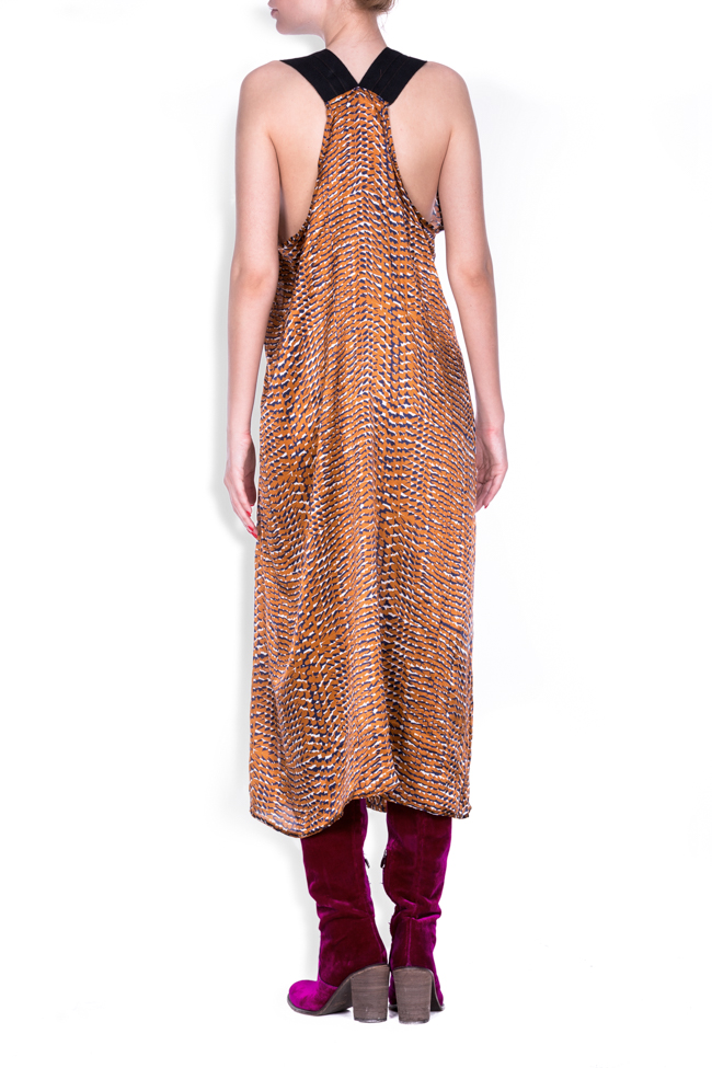 Skin silk-satin printed dress Studio Cabal image 2