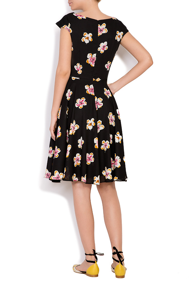 Floral-print crepe de chine mini dress Oana Manolescu image 2