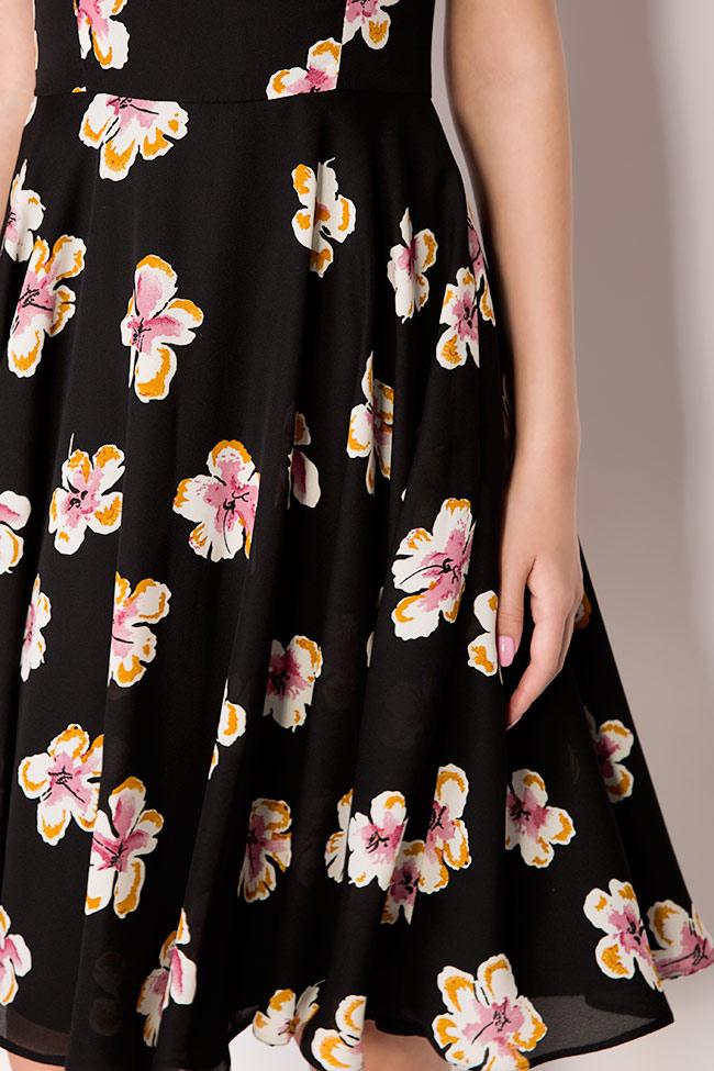 Robe en crêpe de voile avec imprimé floral Oana Manolescu image 3