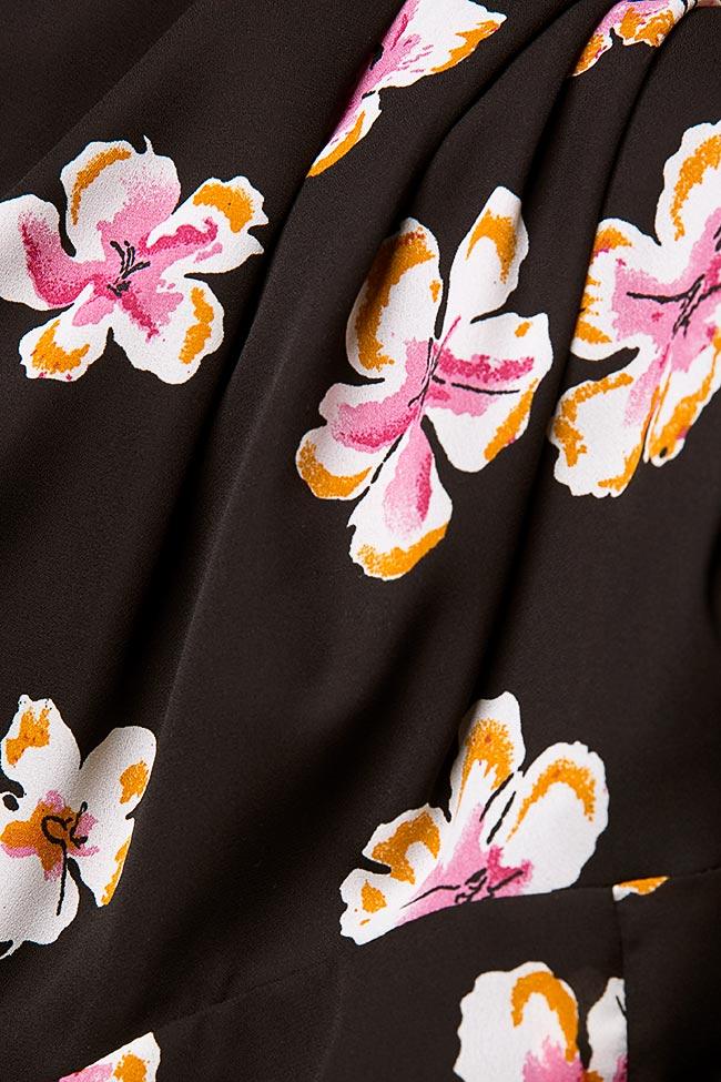 Robe en crêpe de voile avec imprimé floral Oana Manolescu image 4