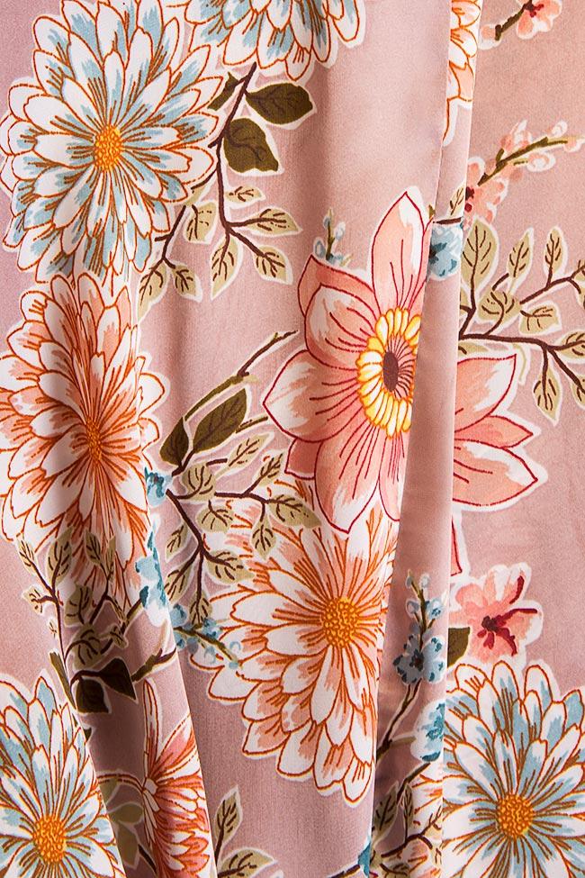 Pantaloni din amestec de matase cu imprimeu floral Fantesy Shakara imagine 4