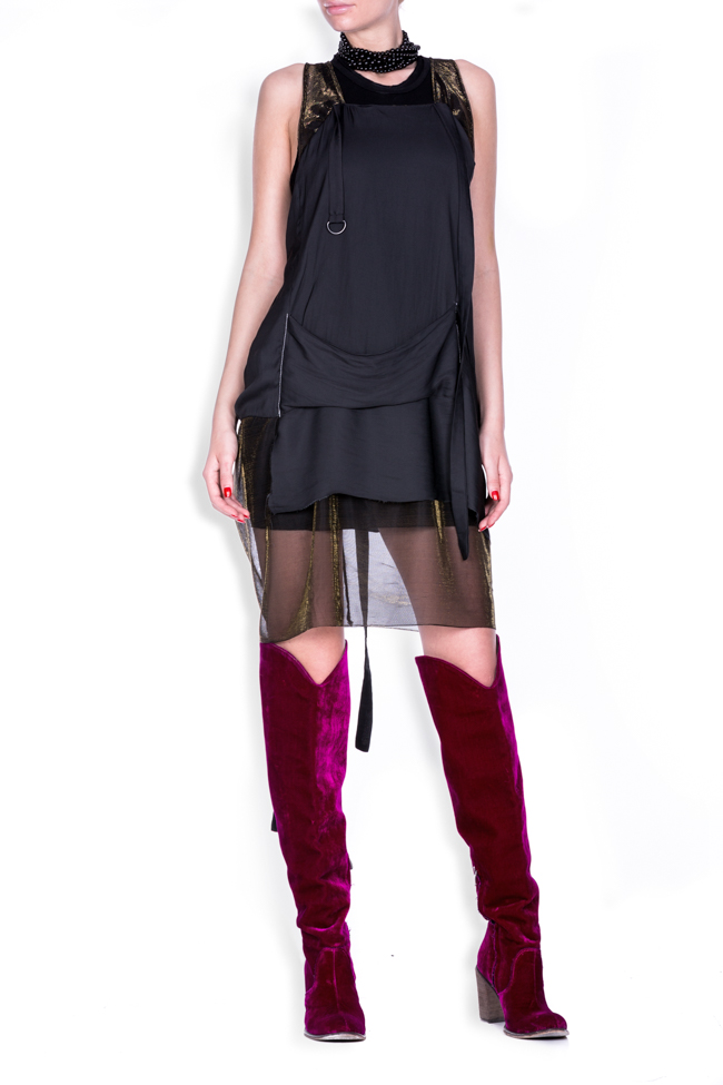 Sheer Apron metallic tulle jersey mini dress Studio Cabal image 0