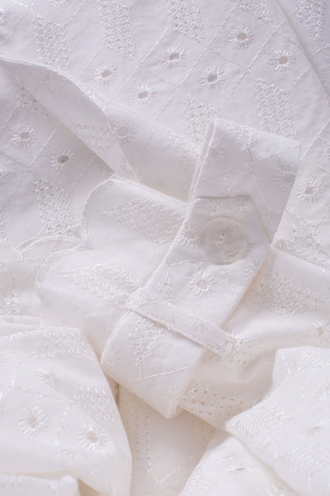 Milano broderie anglaise cotton trench coat OMRA image 4