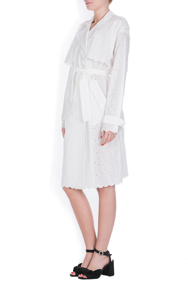 Milano broderie anglaise cotton trench coat OMRA image 1