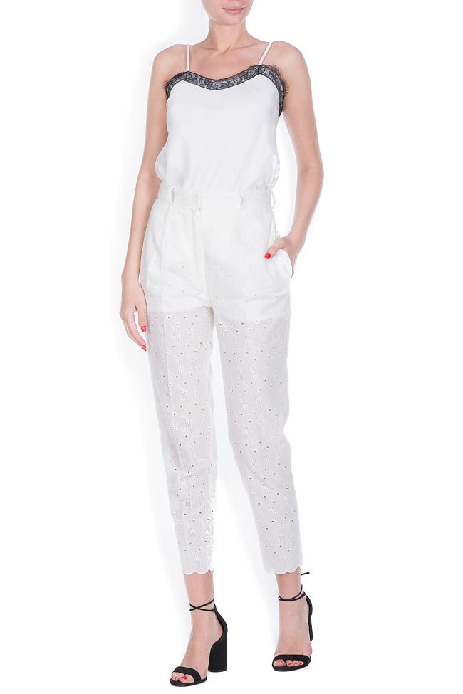 Milano broderie anglaise cotton straight-leg pants OMRA image 0