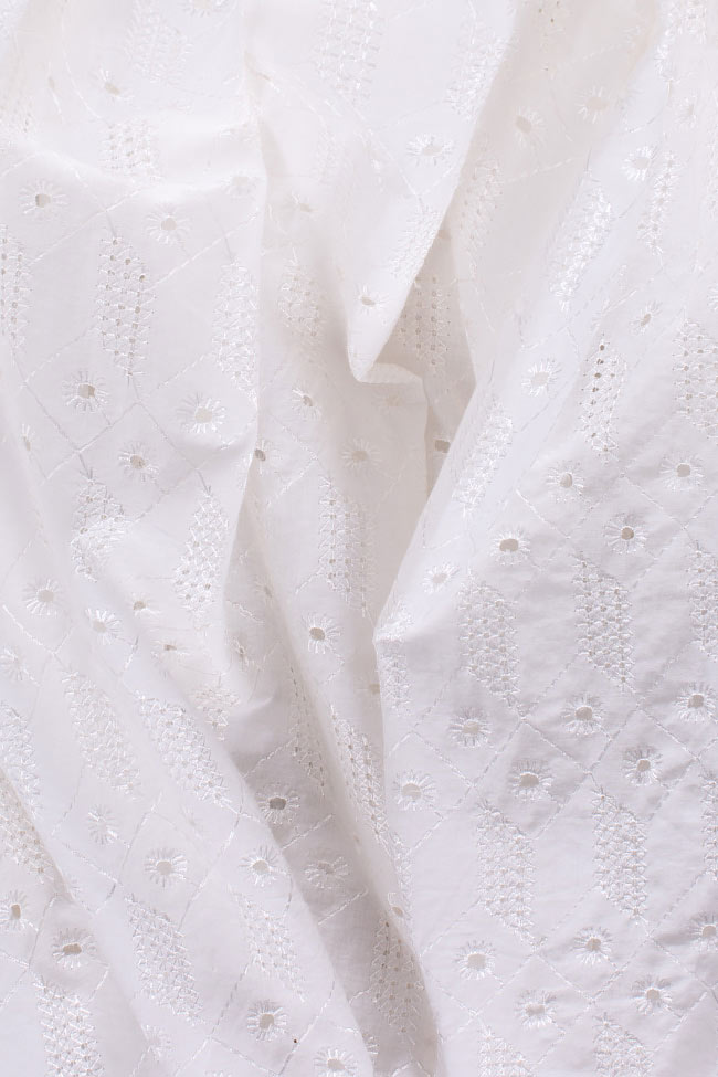 Milano broderie anglaise cotton midi dress OMRA image 4