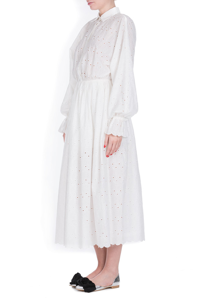 Milano broderie anglaise cotton midi dress OMRA image 1