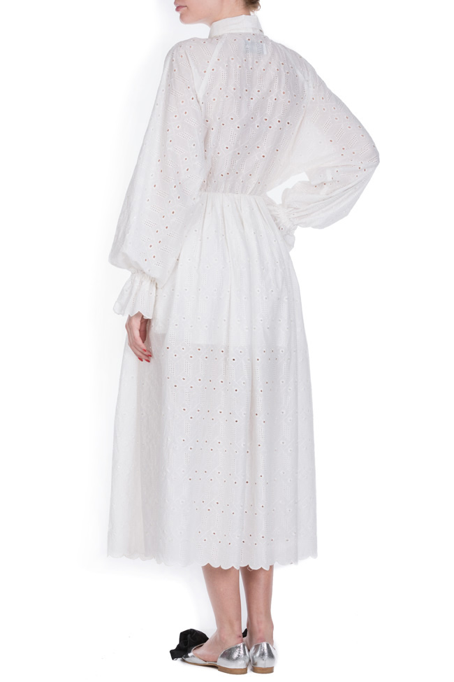 Milano broderie anglaise cotton midi dress OMRA image 2