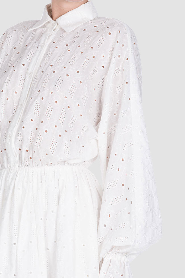 Milano broderie anglaise cotton midi dress OMRA image 3