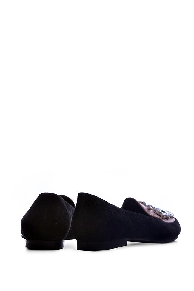 Embellished suede loafers Giuka by Nicolaescu Georgiana  image 2