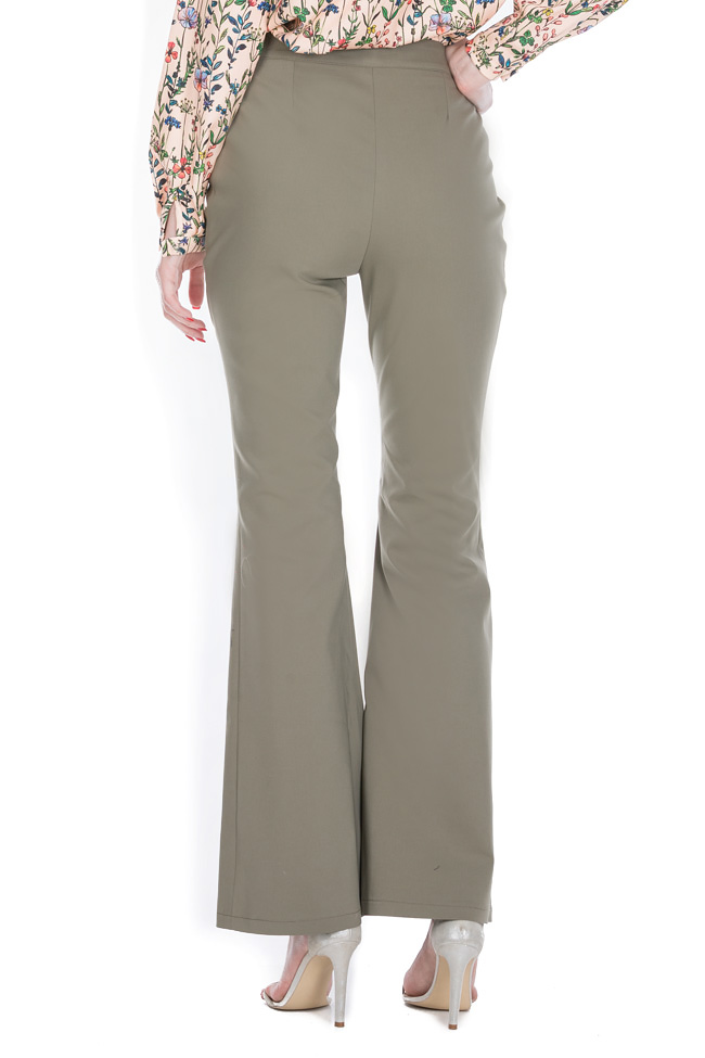 Belted cotton-blend wide-leg pants Ronen Haliva image 2
