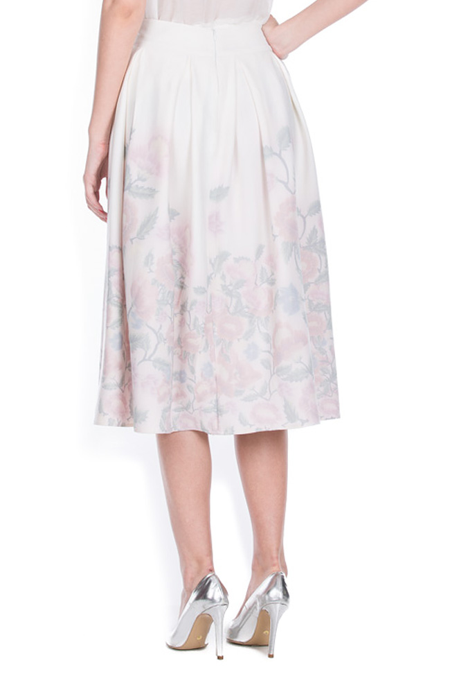 Printed cotton-blend midi skirt Dorin Negrau image 2
