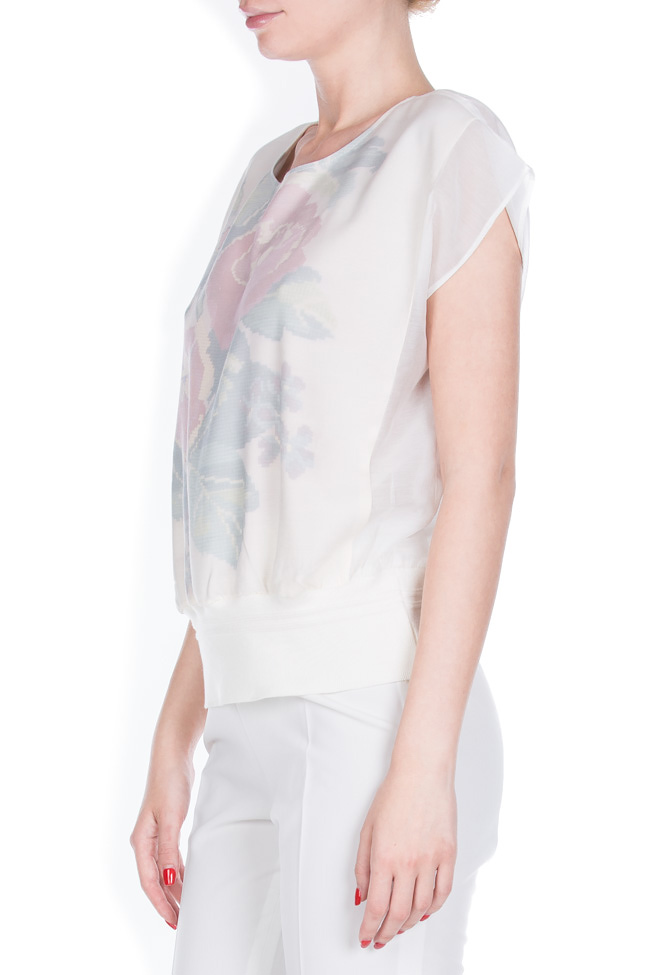 Printed silk cotton-blend top Dorin Negrau image 1