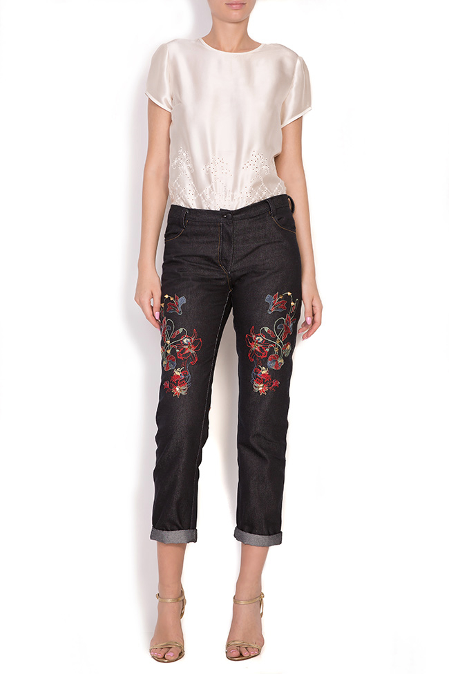 Tokyo embroidered jeans Elena Perseil image 0