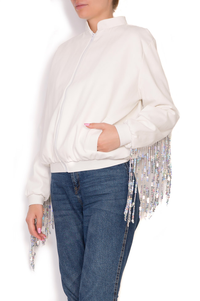 Fringed cotton bomber jacket Zenon image 1