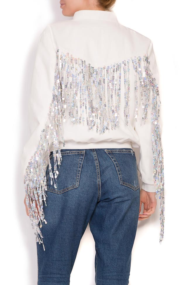 Fringed cotton bomber jacket Zenon image 2
