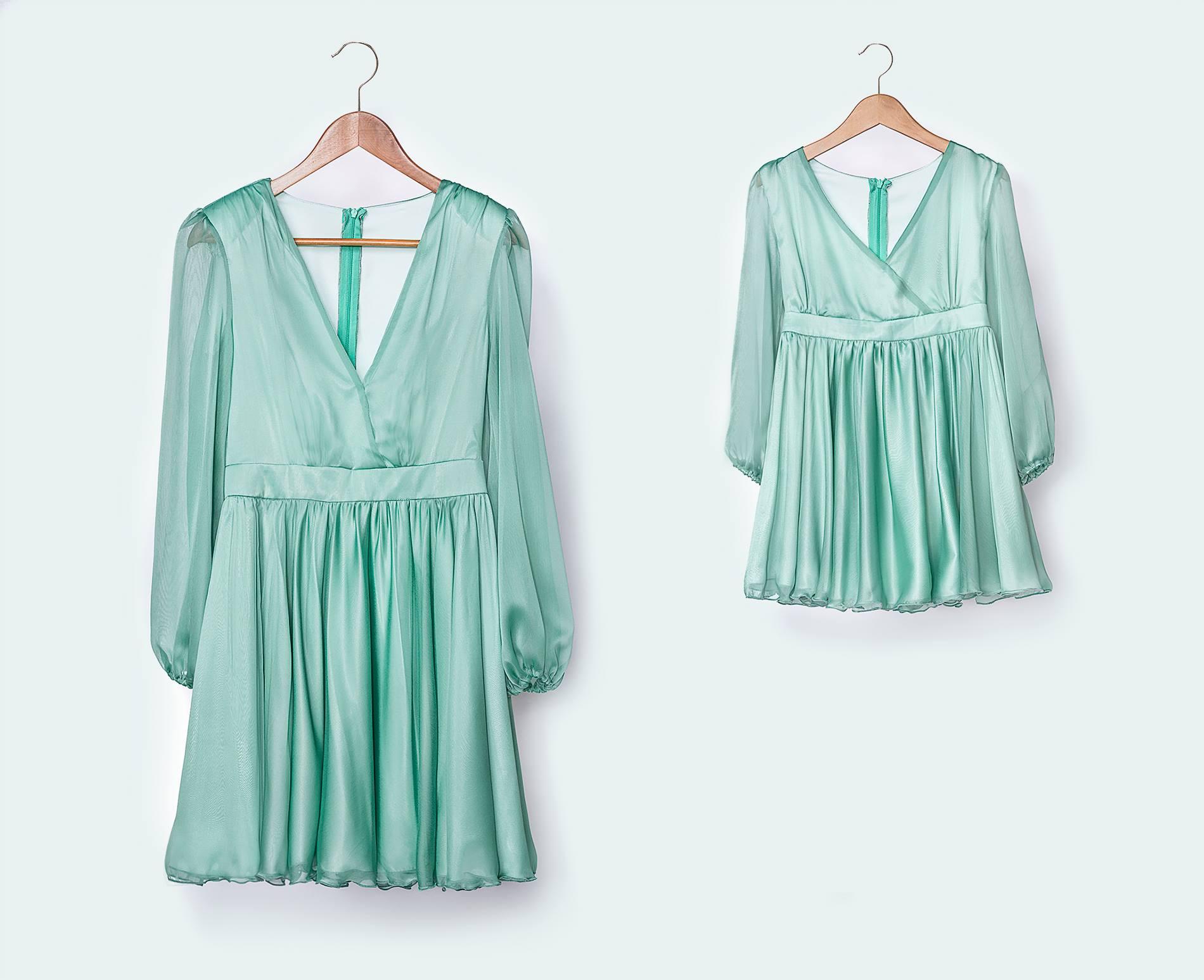 Pleated silk-chiffon mini dress Cloche image 5