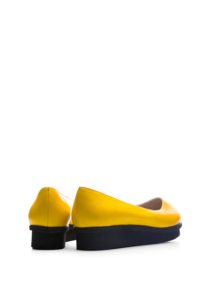 Leather platform ballet flats  Giuka by Nicolaescu Georgiana  image 2