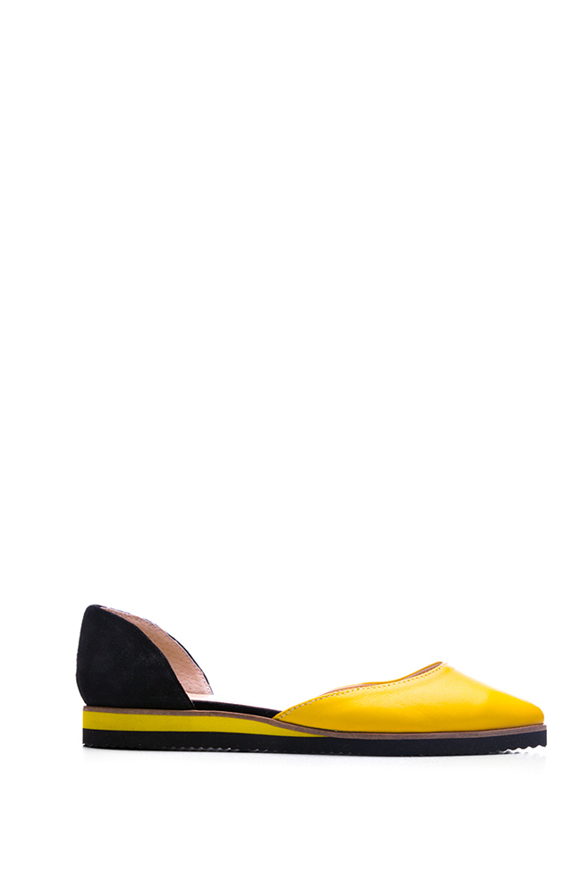 Two-tone leather and suede ballet flats Giuka by Nicolaescu Georgiana  image 0