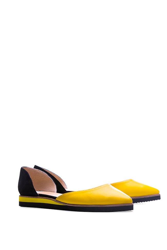 Two-tone leather and suede ballet flats Giuka by Nicolaescu Georgiana  image 1