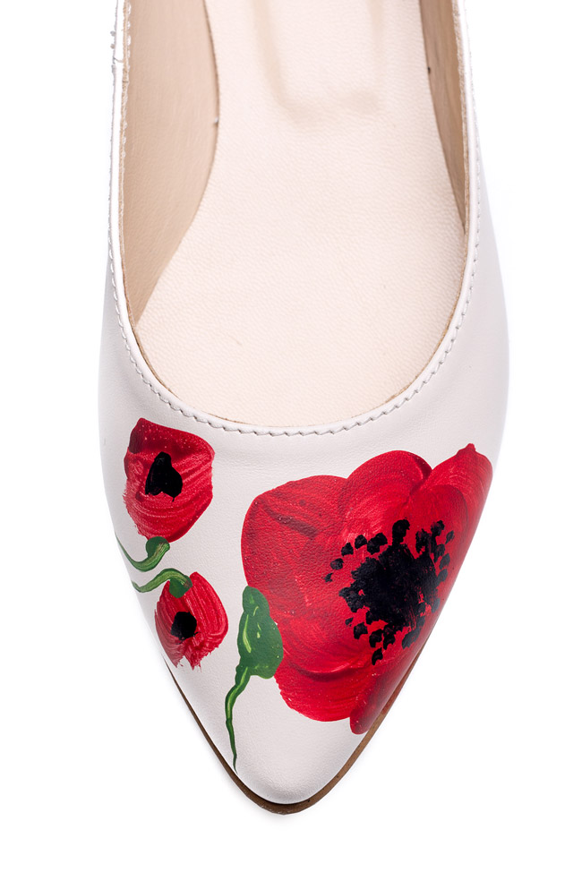 Hand painted leather ballet flats  Giuka by Nicolaescu Georgiana  image 3