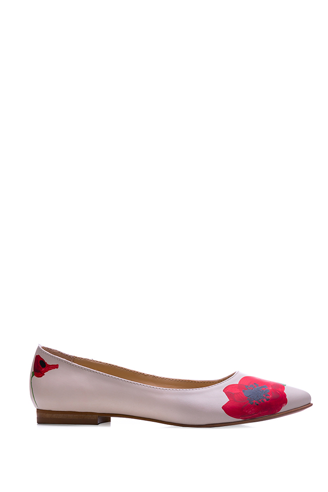 Hand painted leather ballet flats  Giuka by Nicolaescu Georgiana  image 0