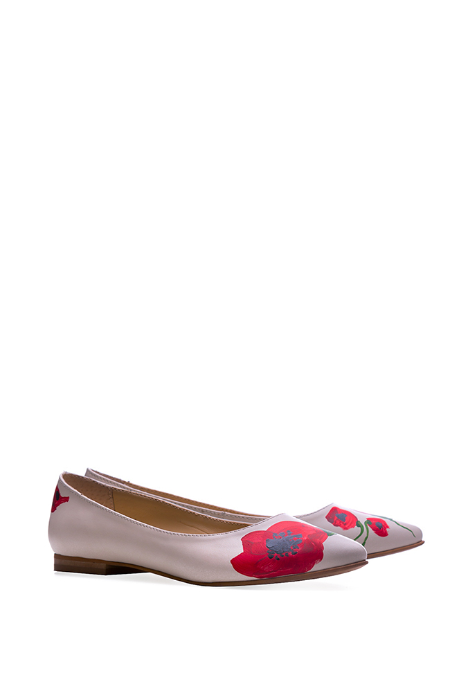 Hand painted leather ballet flats  Giuka by Nicolaescu Georgiana  image 1