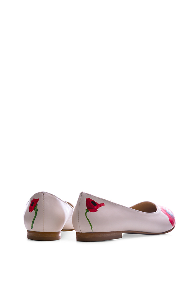 Hand painted leather ballet flats  Giuka by Nicolaescu Georgiana  image 2