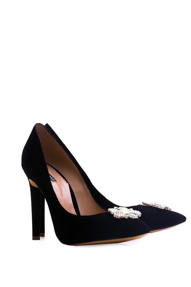 Pantofi din catifea accesorizati Impressive Hannami imagine 1