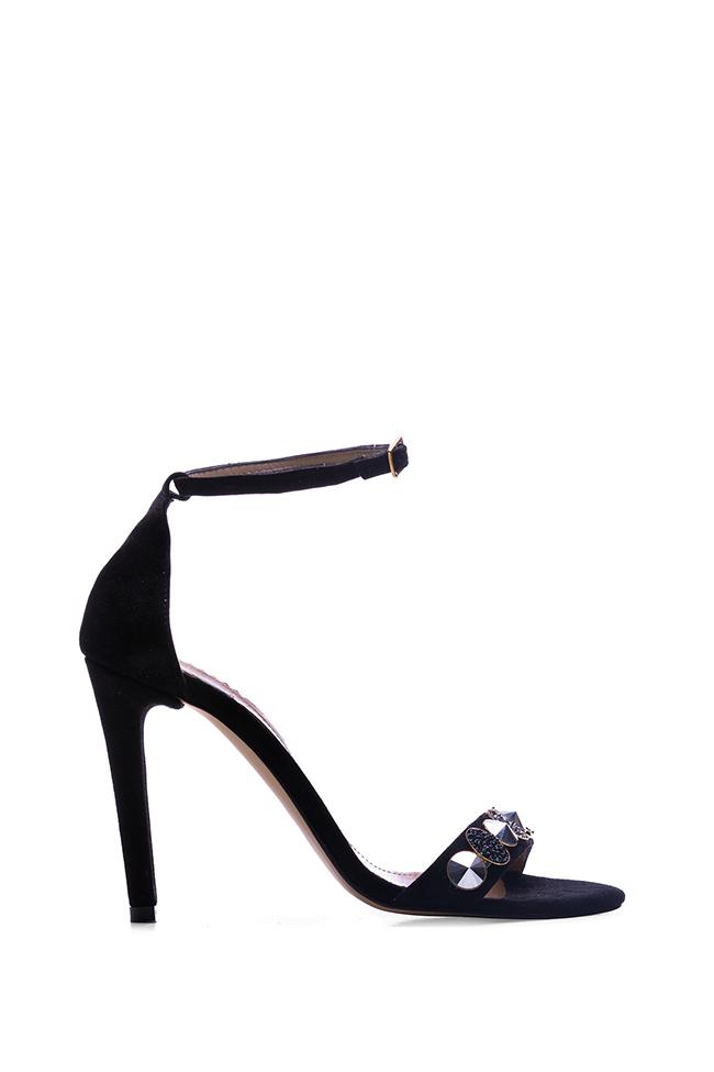 Sparkle embellished suede sandals Hannami image 0