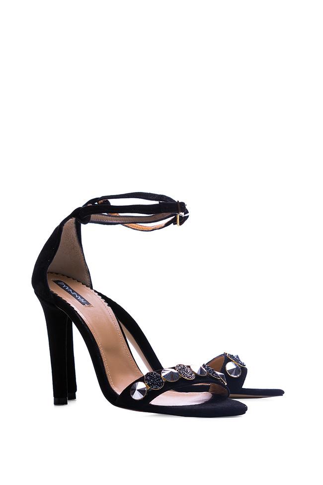 Sparkle embellished suede sandals Hannami image 1