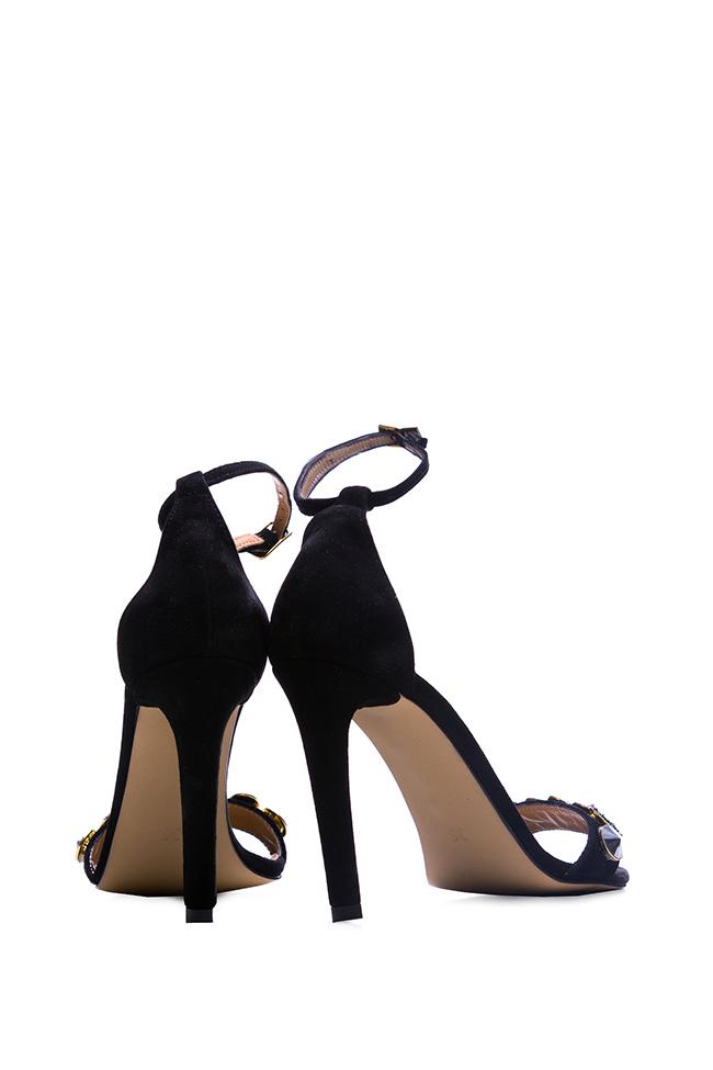 Sparkle embellished suede sandals Hannami image 2