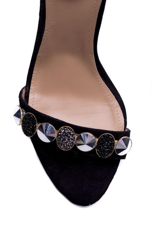 Sparkle embellished suede sandals Hannami image 3